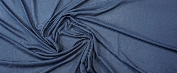 Seidenmix-Jersey - dunkelblau