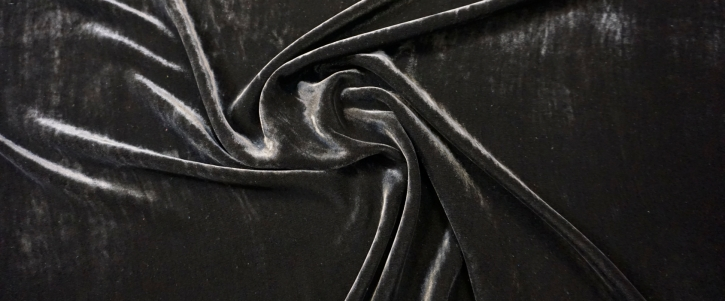 Seidensamt - schwarz