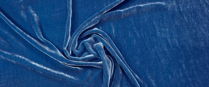 Seidensamt - königsblau