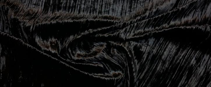 Crinkel Samt - schwarz