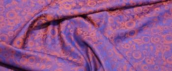 Viskose mit Baumwolle - orange/blau