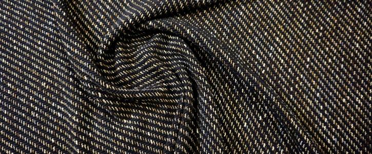 Chenille - dunkelblau mit beige