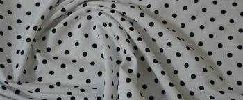 Viskose - weiß mit schwarzen Punkten