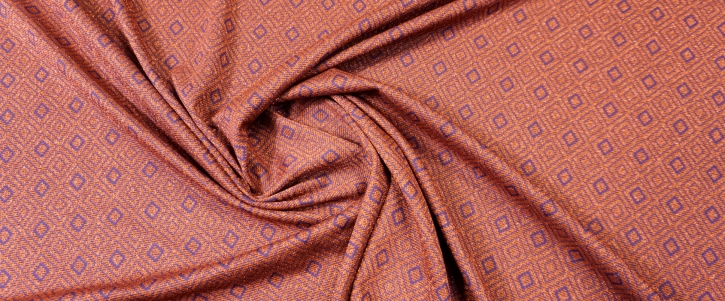Viskosejersey mit Lurex - orange-rot