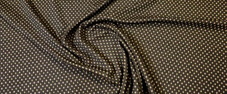 schwerer Jersey - glitzernd gold auf schwarz