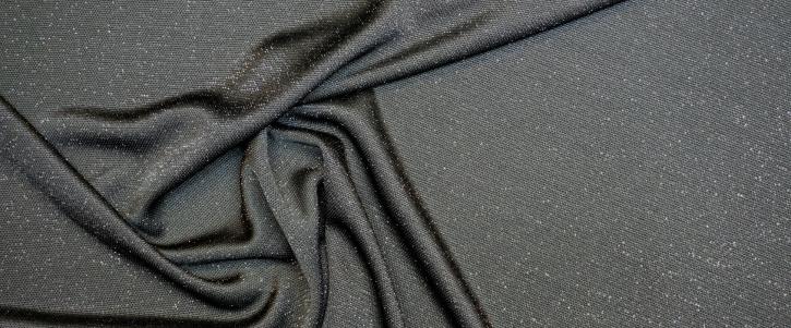 Viskosejersey mit Lurex - schwarzgrün