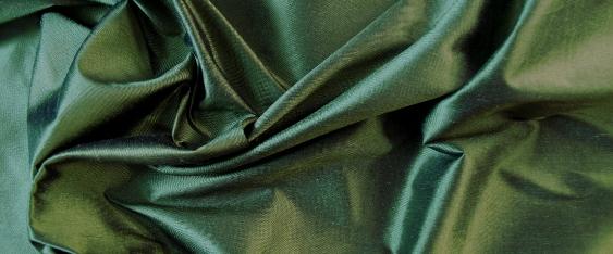 Dupion - grün/schwarz