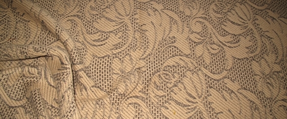 Schurwollmischung beige/schwarz