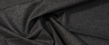 Leinen mit Viskose - grau/weiß