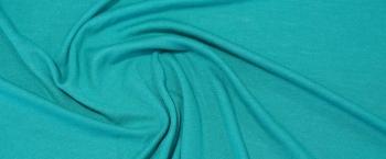 pikierter Jersey - türkis/grau
