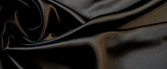 schwerer Seidensatin - schwarz