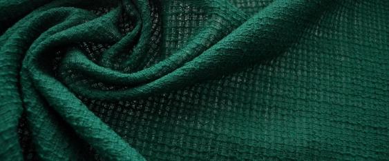 Bouclé - smaragdgrün