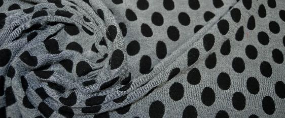Schurwollmischung - Polka Dots