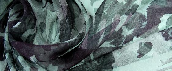 Chiffon - lila und grau