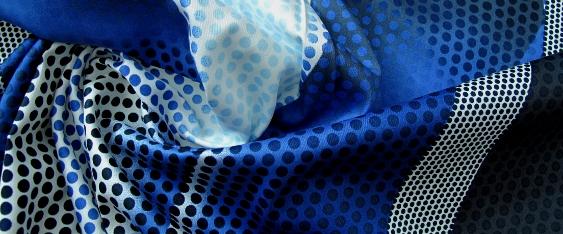 Baumwolle in Stretchqualität - blau