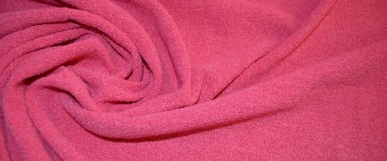 Schurwollfrottee in pink