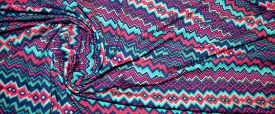 Jersey mit ZickZack-Muster