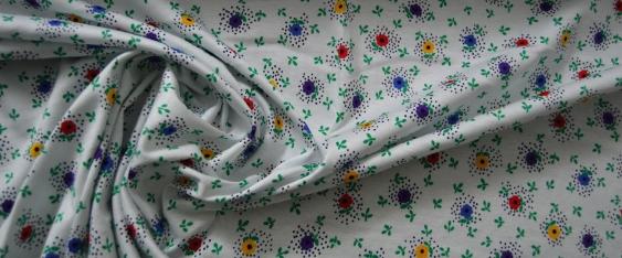 Jersey - naives Floralmotiv