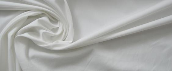 Baumwollmischung - weiß