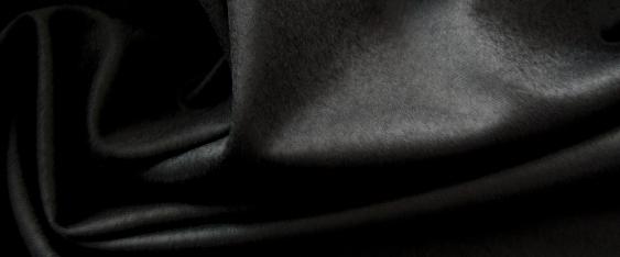 Flanell - schwarz