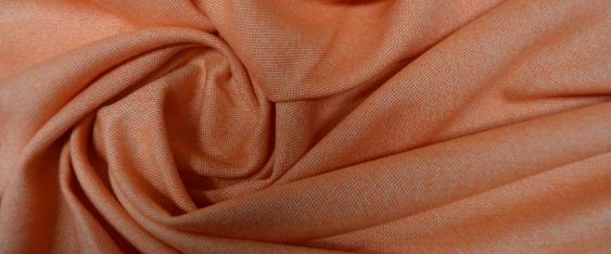 Coupon Schurwolle - orange und weiß