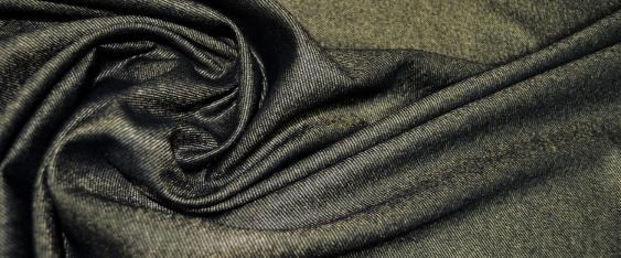Rest Schurwolle, schwarz - gold