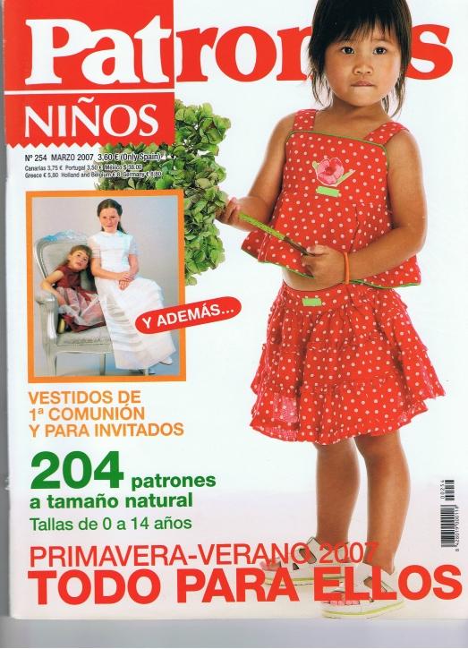 Patrones 2007 Ninos No. 254
