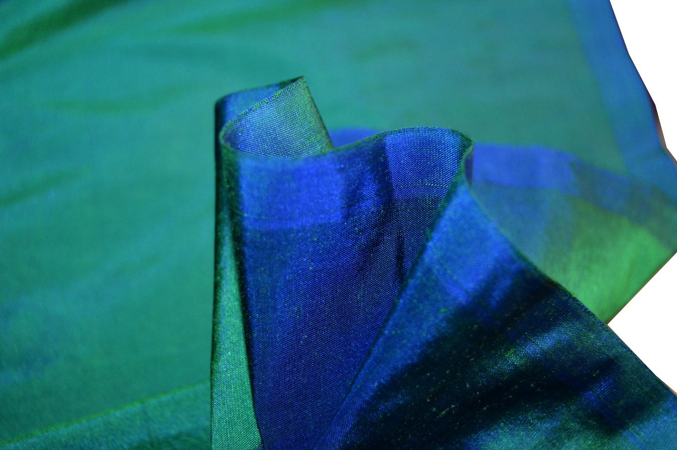 wildseide blau und gr n changierend 210 529 3300. Black Bedroom Furniture Sets. Home Design Ideas