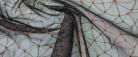 Tüllspitze - schwarz mit messing