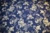 Brokat - nachtblau mit silber