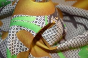 Baumwolle - abstraktes Floralmotiv