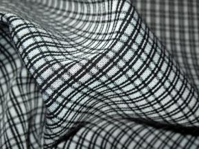 Viskosegemisch Karo schwarz auf grau