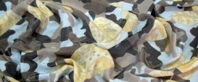 Rest Viskose - Blütenmotiv