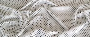 Polyester, gepunktet schwarz auf weiß
