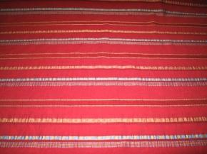 Albin Reißmann - Streifendesign auf rot