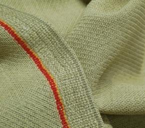 Schurwolle/Polyester gelboliv