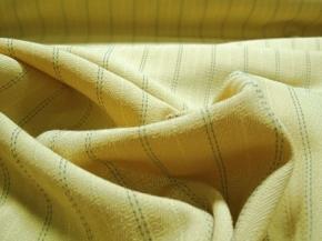 Schurwolle/Polyester gelb - grau