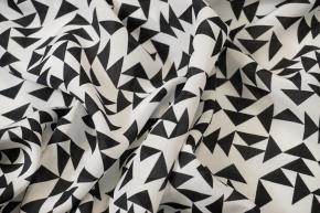 Seidencrepe - geometrisches Muster