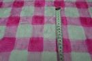 Rest, Seide - Blockstreifen pink/weiß