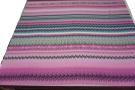 Seidenrapport – Streifen rosa/bunt