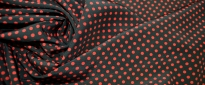 Rest Seide - polka dots