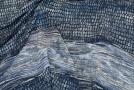 Seidenrapport - grau mit dunkelblau