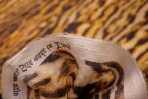 Rest, Seide - animalprint mit Satinstreifen