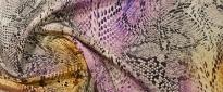 Seide - Schlangenprint in bunt