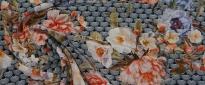 Rest Versace - Blumen auf grau