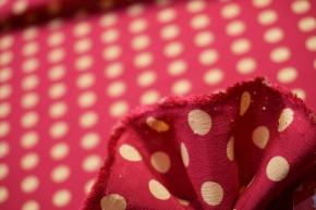 Seide - polka dots, pink/creme