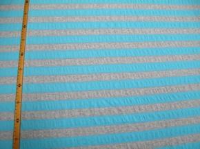 Baumwolle/Lycra grau-blau gestreift
