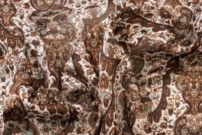 Seidenstretch - braunes Muster