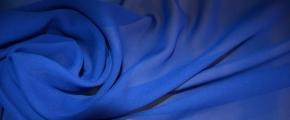 Rest Chiffon - königsblau