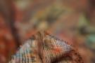 Chiffon - bunte Muster auf schwarz